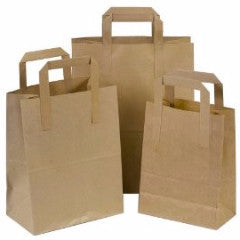 Cheap Paper Bags - Tree Saver Brown & White Paper Bags (Qty:250)