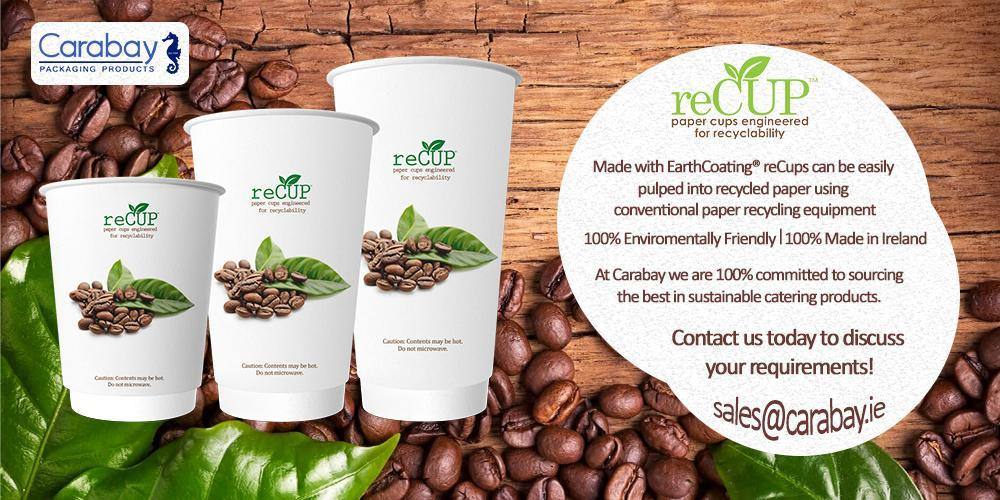 ReCup Recycled Cups Recyclable Coffee Cups 1005 Sustainable