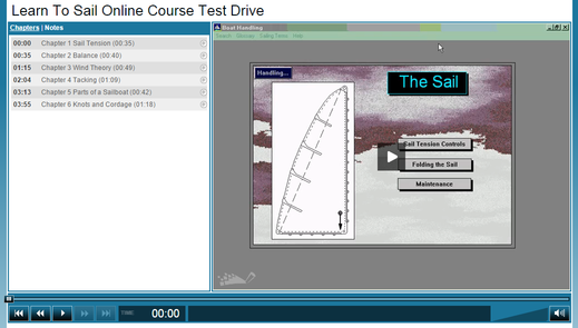 learn to sail online course test drive