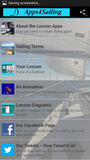 Parts of a Sailboat Sailing Lesson App for Android, Samsung, Kindle Fire