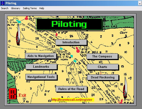Learn Coastal Navigation Piloting CD DVD