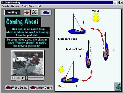 Turning A Sailboat Digital Sailing Lesson for MAC and PC