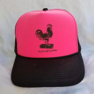 THE CHICKEN TRUCKER - BLACK ON PINK FOAMIE - Plata O Plomo LA