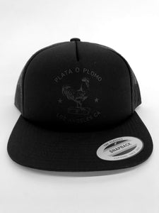 THE CHICKEN TRUCKER - BLACK ON BLACK FOAMIE - Plata O Plomo LA