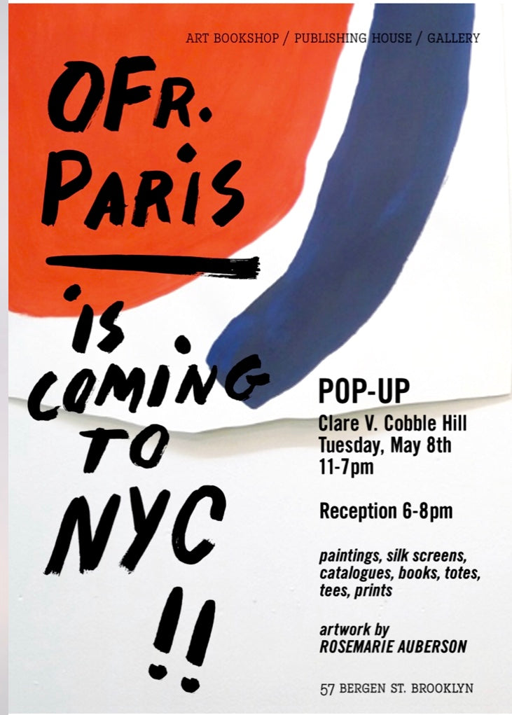 NYC: OFR POP-UP in Brooklyn starting May 8th