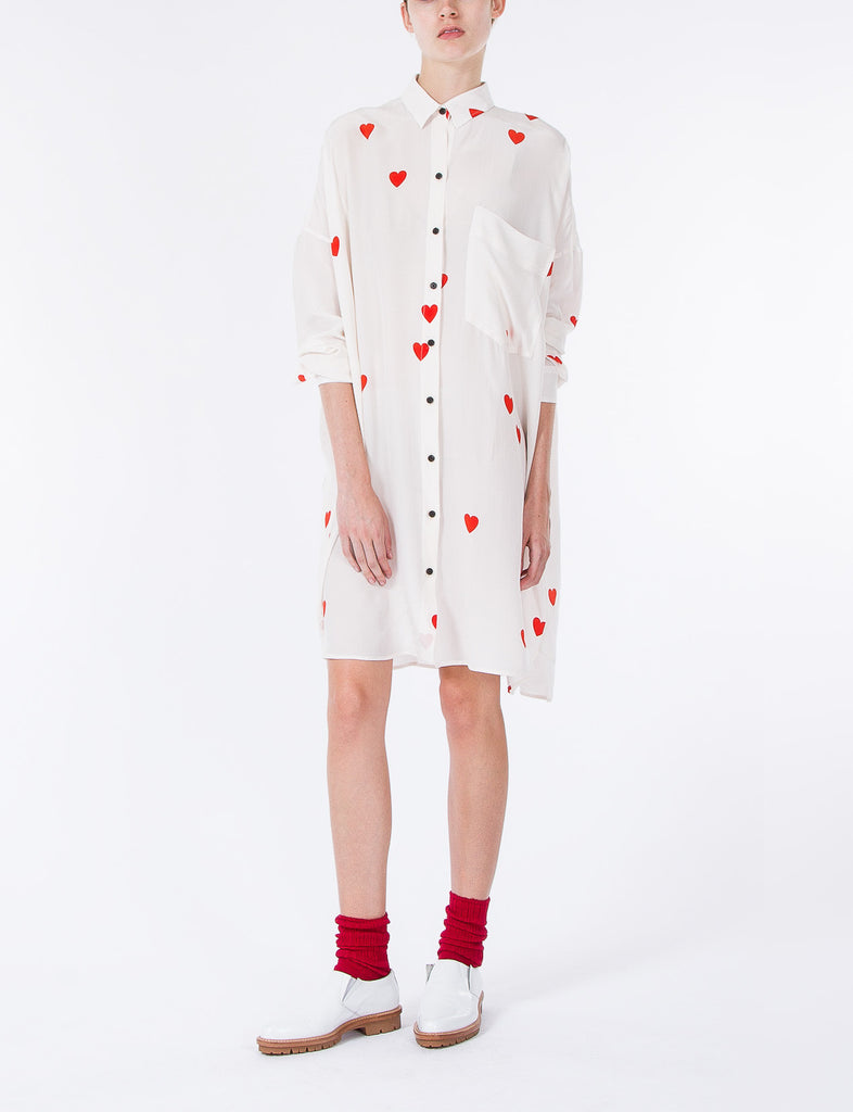 Johnson Dress Heart Print