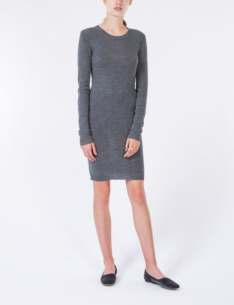 Crew Mini Dress High Twist