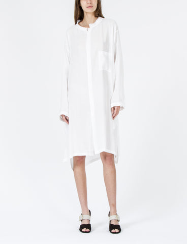 U-Open Collar Shirt Dress