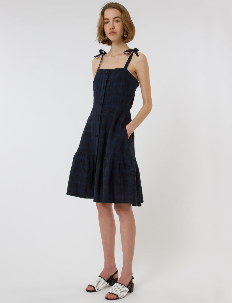 Orion Dress Short French Plaid - Creatures of Comfort