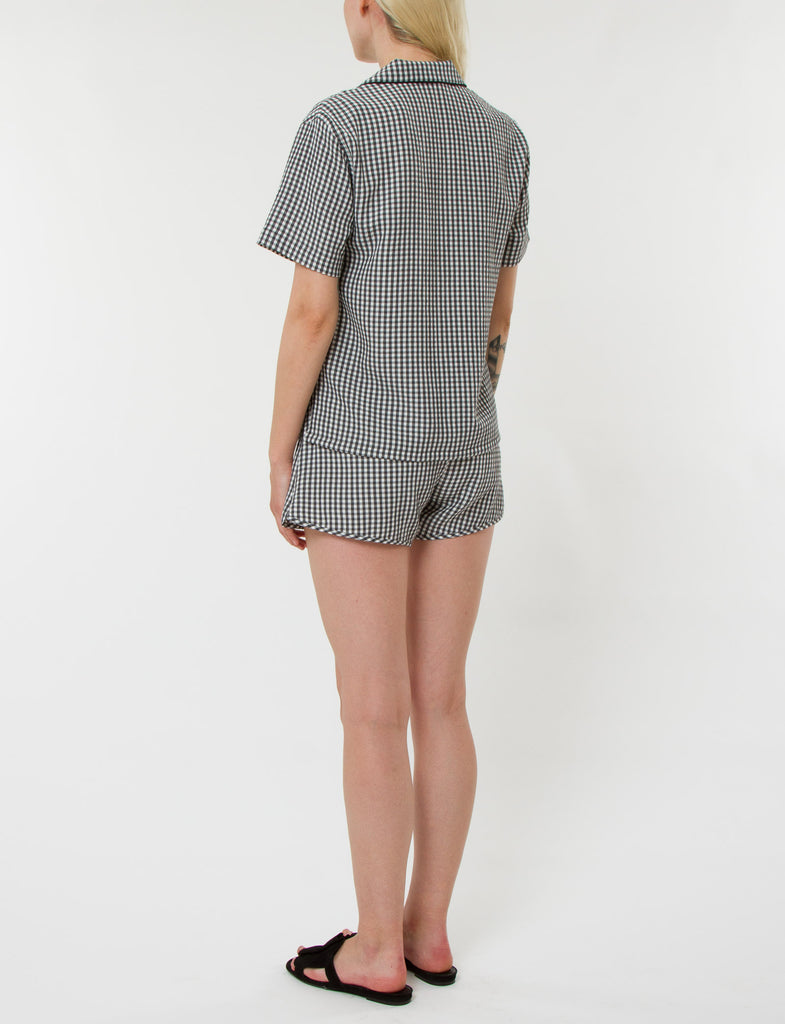 Pajama Short Set Gingham Viscose - Creatures of Comfort