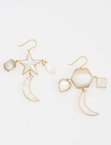 Moon & Star Earrings - GRAINNE MORTON