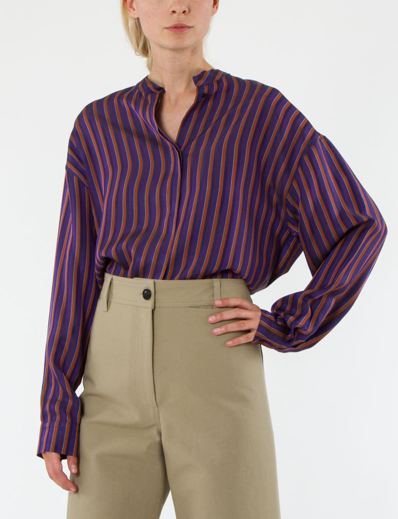 Monet Top Striped Viscose Twill