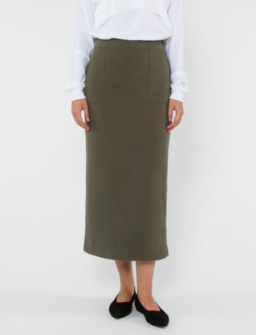Drawstring Skirt French Terry