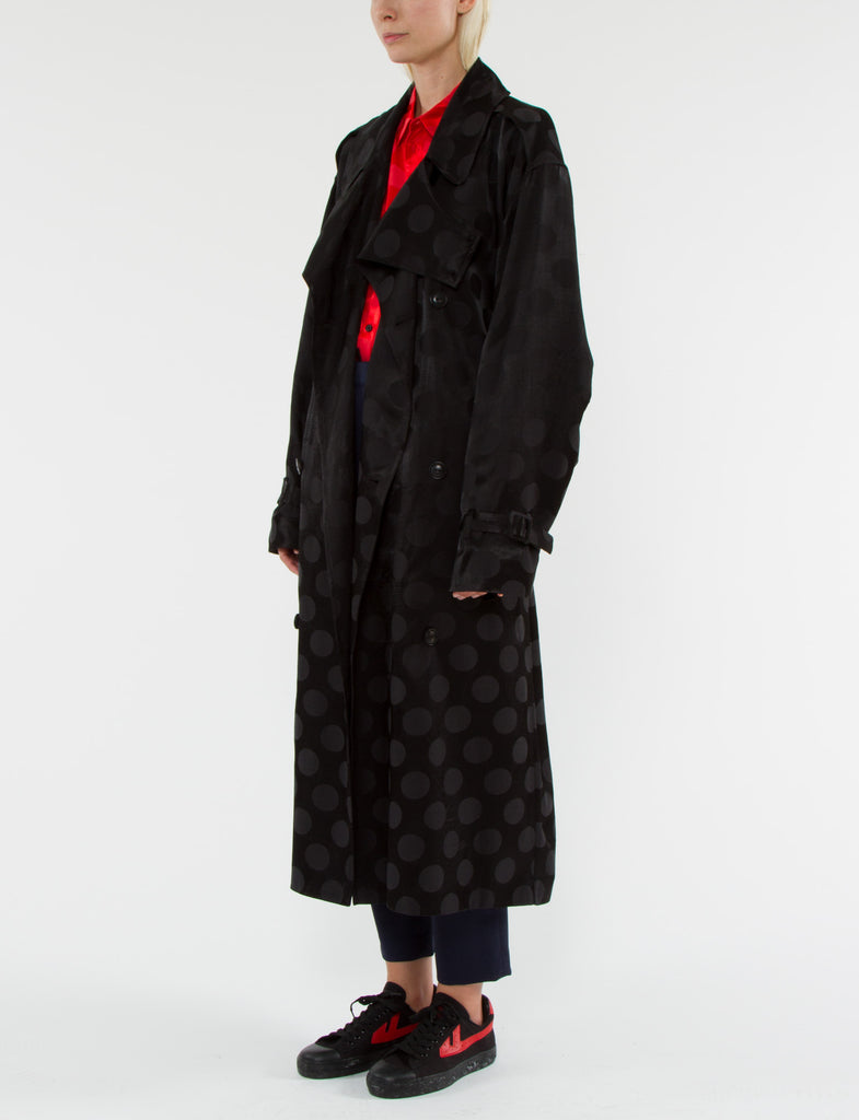 Beckette Trench Polka Dot Jacquard