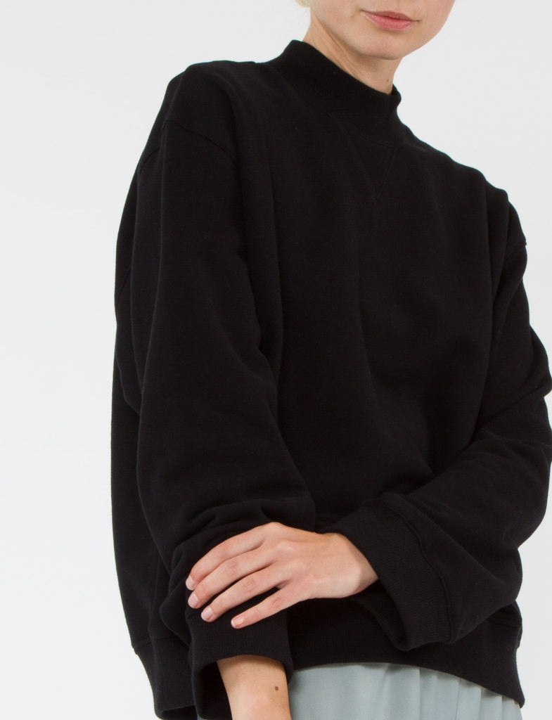 Mock Neck Sweatshirt French Terry