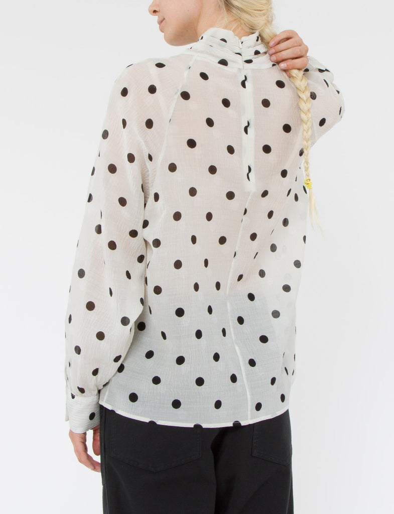 Coy Top Silk Wool Dot