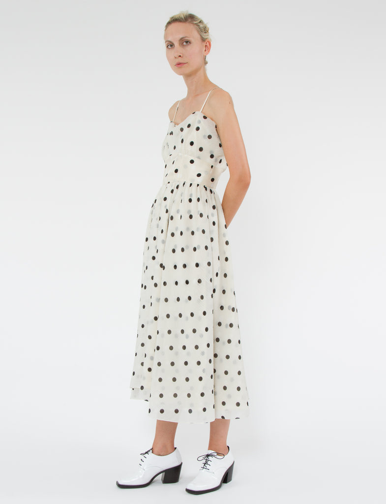 Elodie Dress Polka Dot Shantung