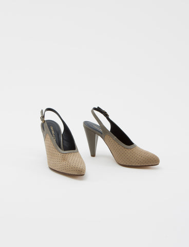 Anais Heel Kid Suede