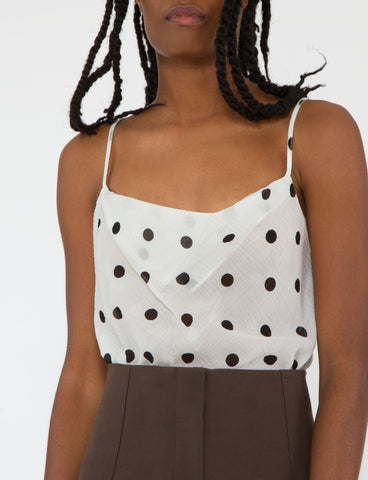 Gibson Top Silk Wool Dot