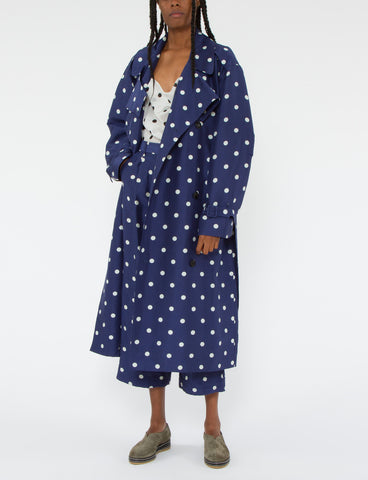 Beckette Trench Polka Dot Shantung
