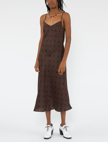 Cara Dress Polka Dot Shantung