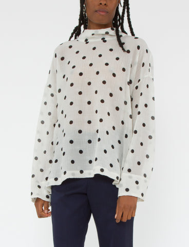 Gene Top Silk Wool Dot