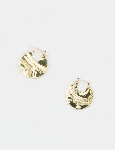 Brass Small Pailette Earrings