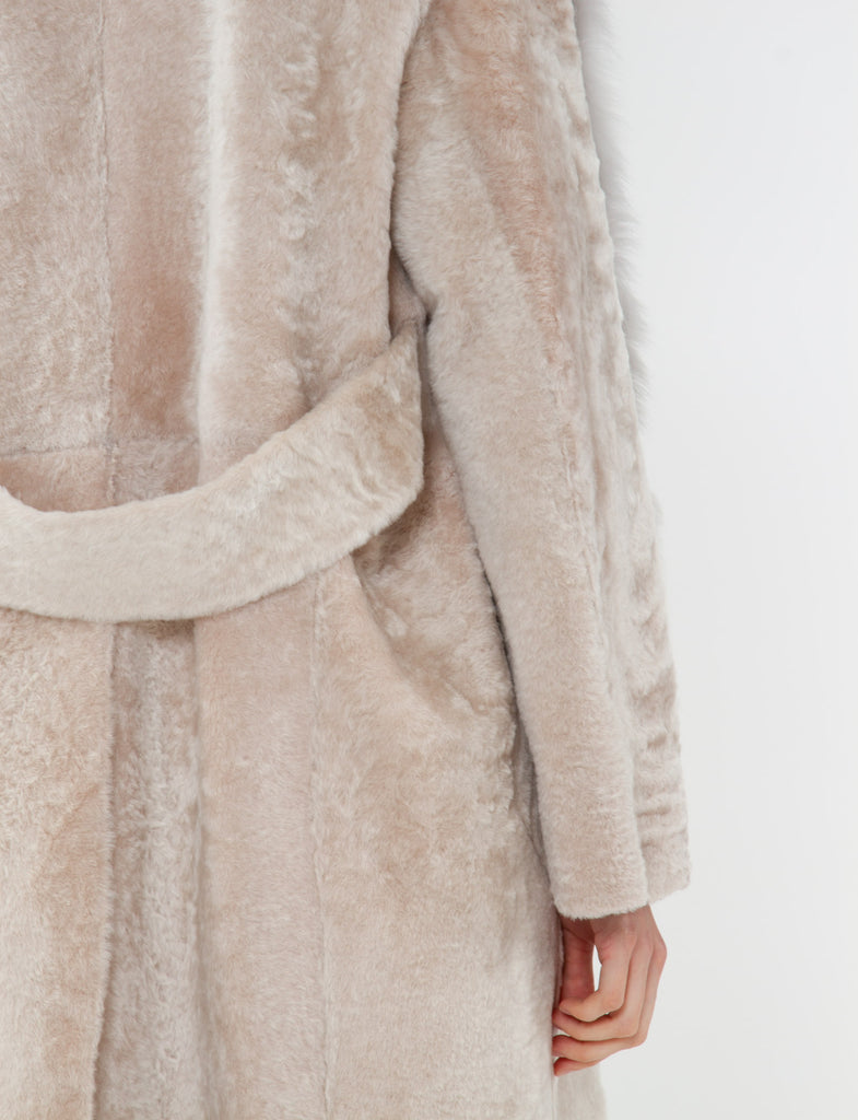 Lust Coat Velvet Shearling