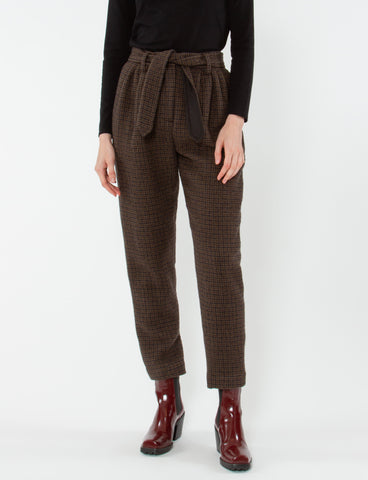 Radiant Pant Wool Cotton Plaid