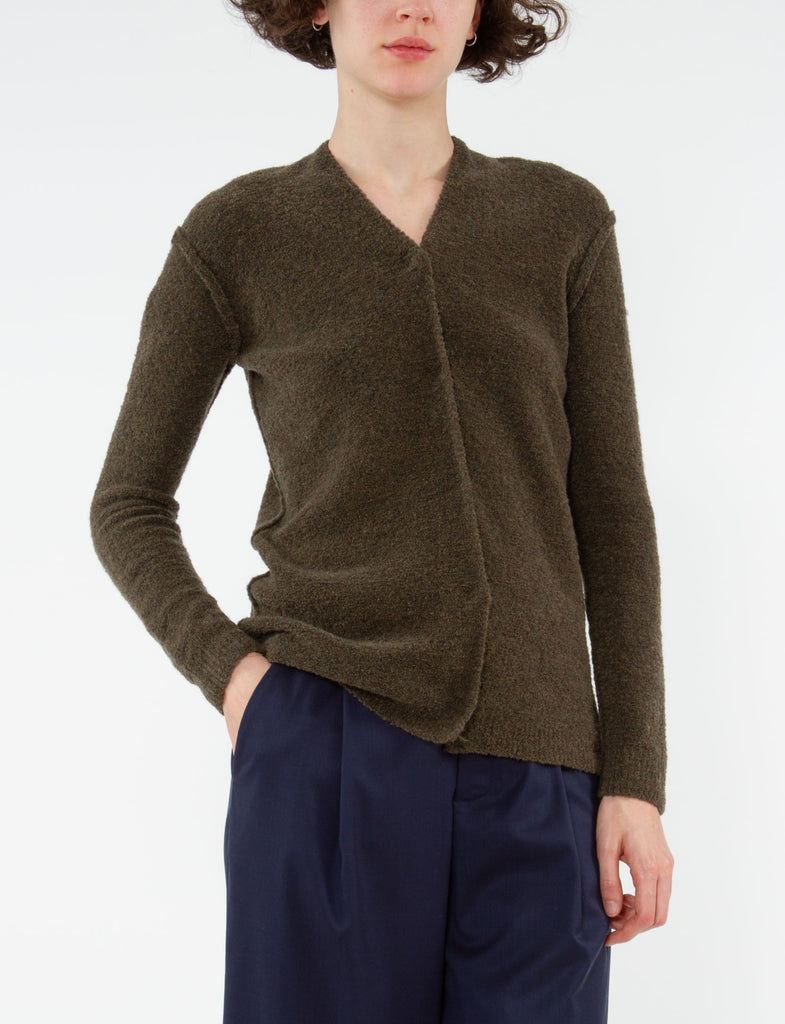 Split Neck Cardigan Mousse
