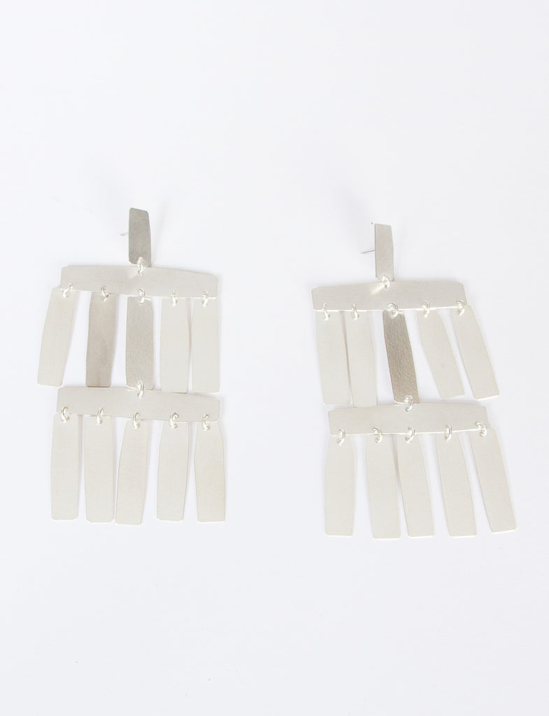 Roma Silver-Tone Brass Earrings Annie Costello Brown