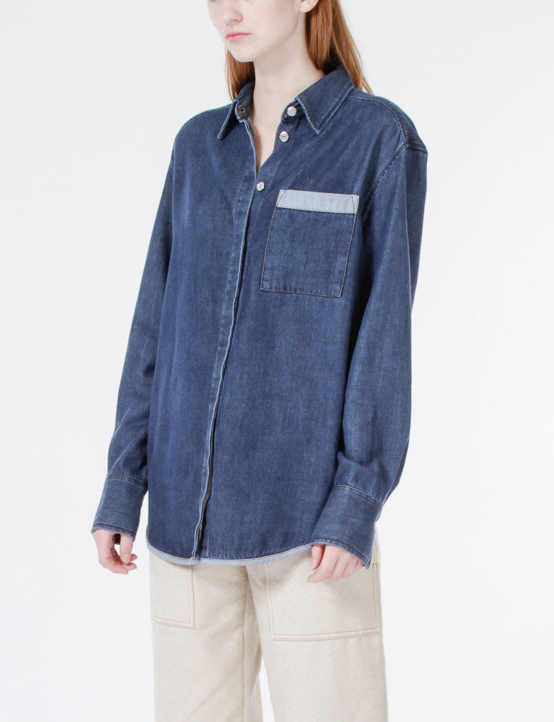 Addle H Denim Button Up