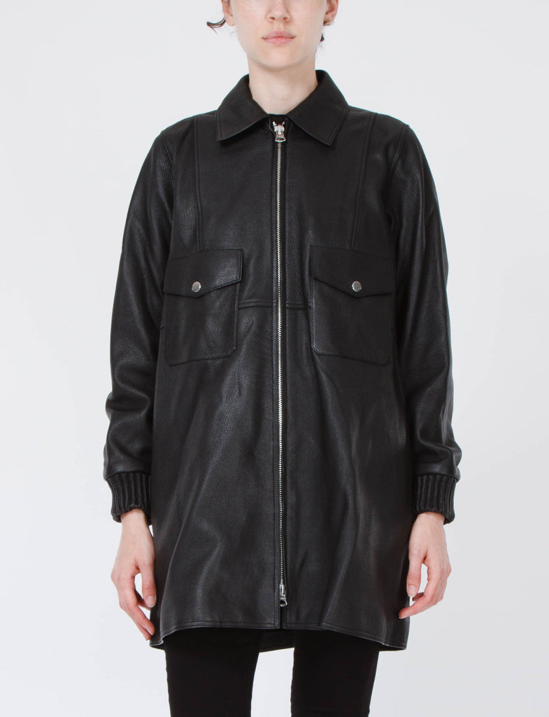 Fortuna Leather Shirt Jacket
