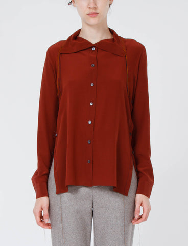 Sheal Crepe De Chine Button Up