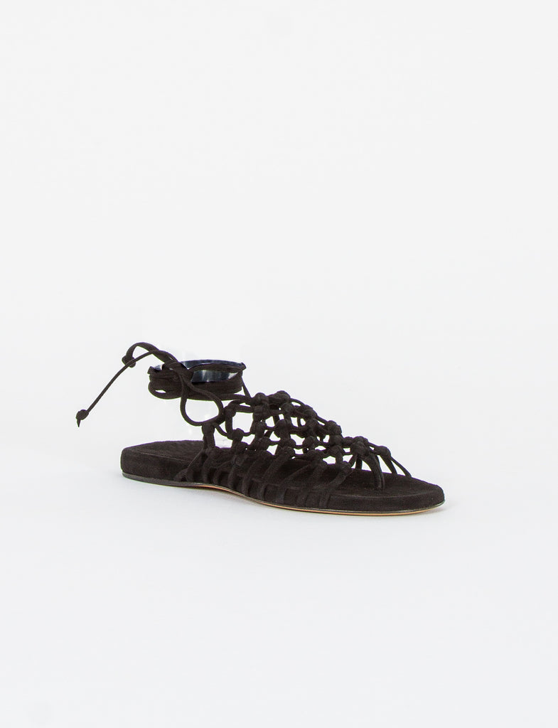 Knotted Nappa  Wrap Sandal