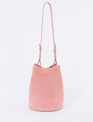 Bucket Bag Small Suede Pink