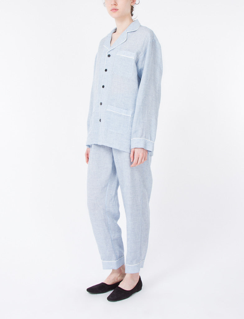 Pajama Set Linen Stripes