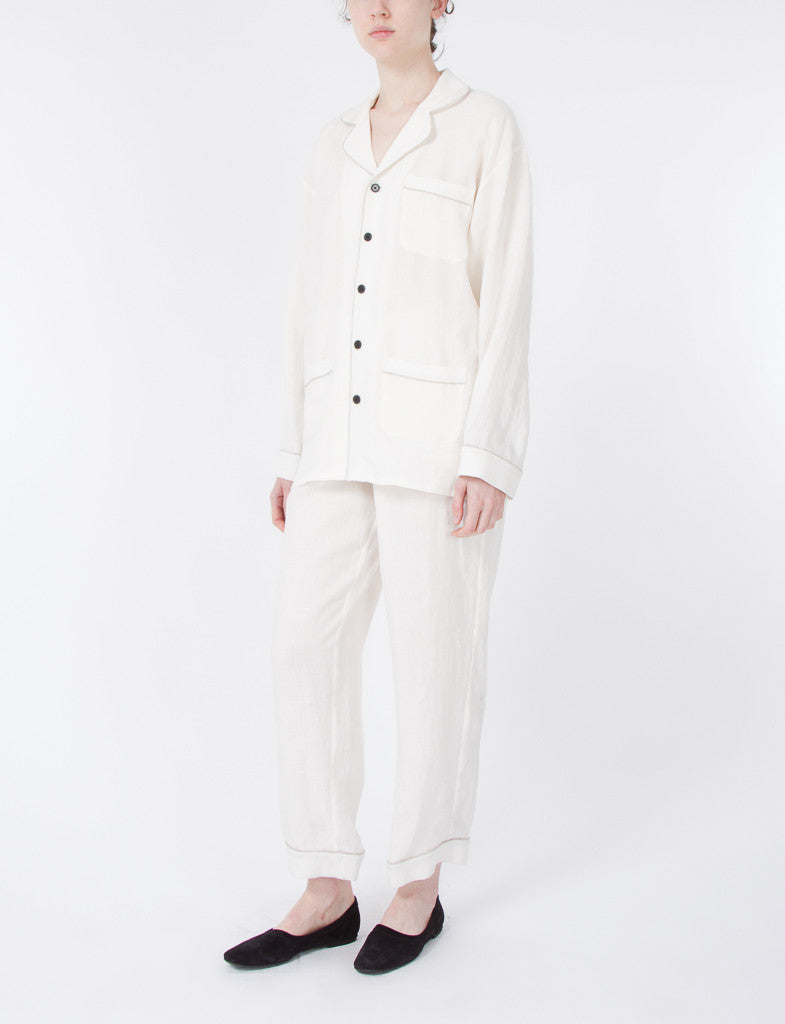 Pajama Set Washed Linen
