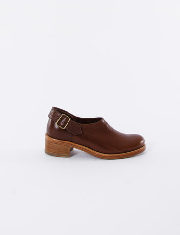 Shearling Buckle Shoe