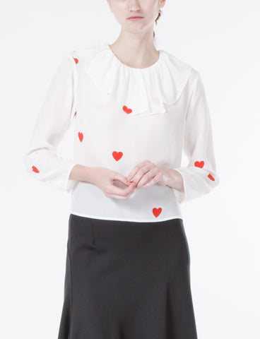 Casper Top Heart Print