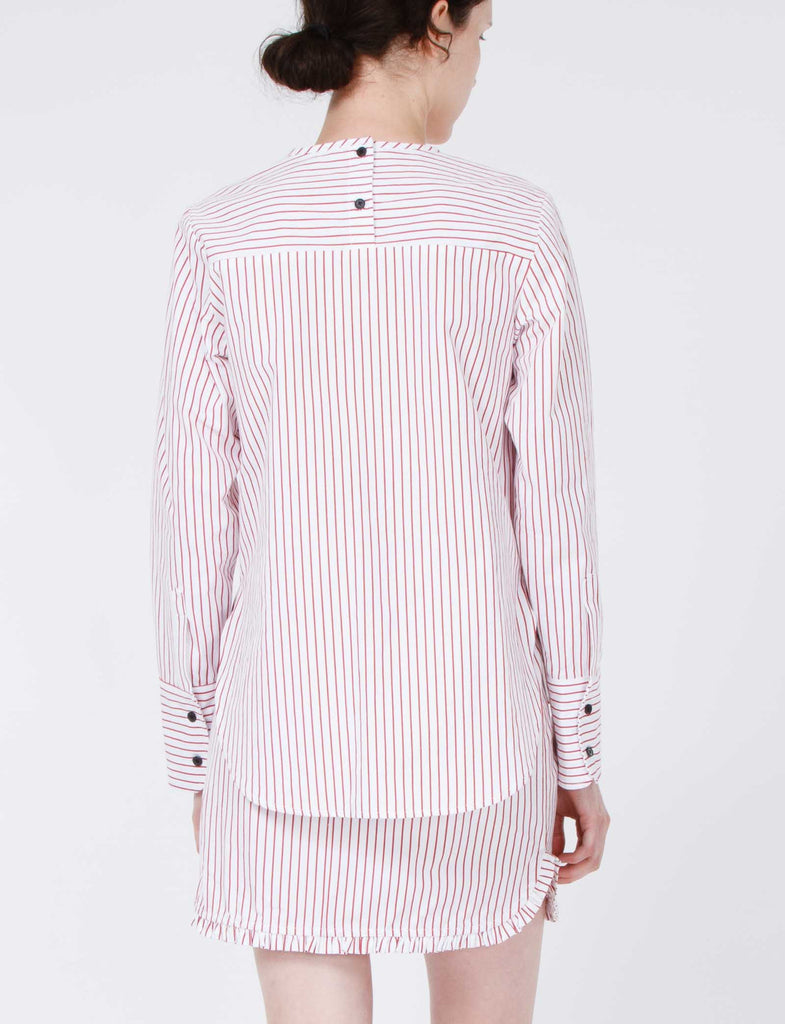 Claude Top Striped Shirting