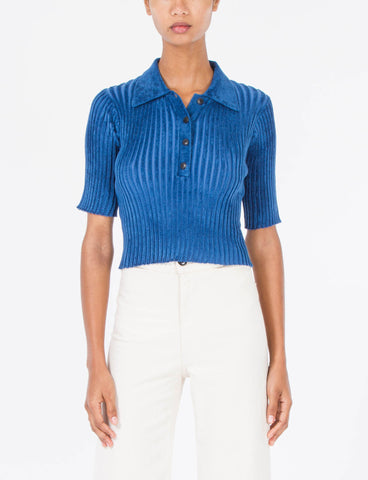 Cropped Polo Chenille