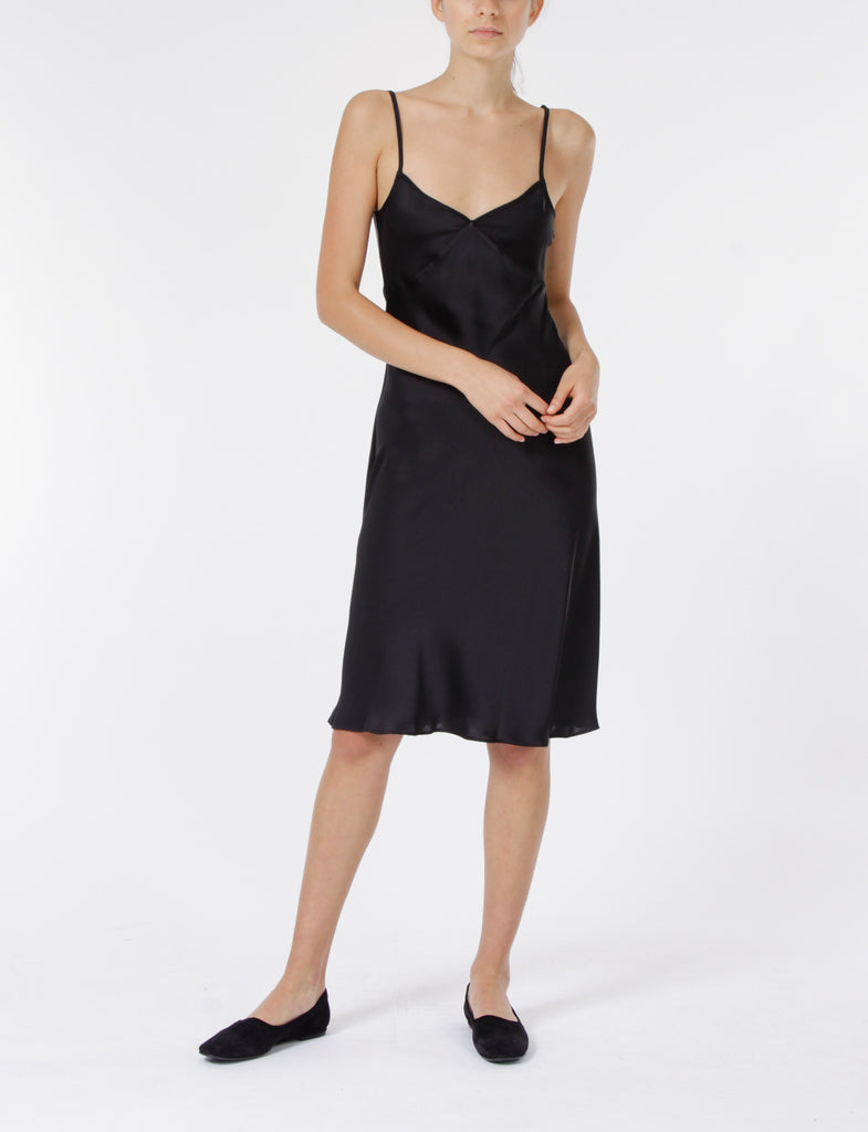 Creatures of Comfort Gaia Slip Dress Poly in Black