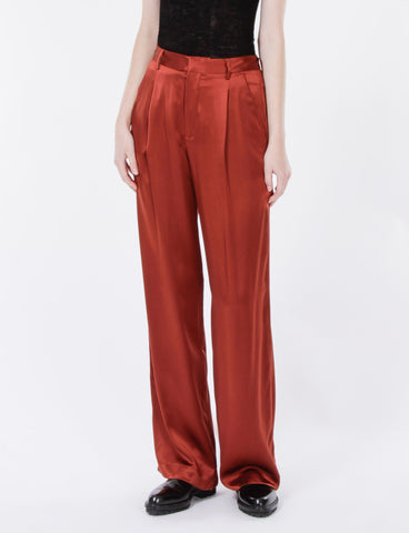 Harriette Pant Silk Charmeuse