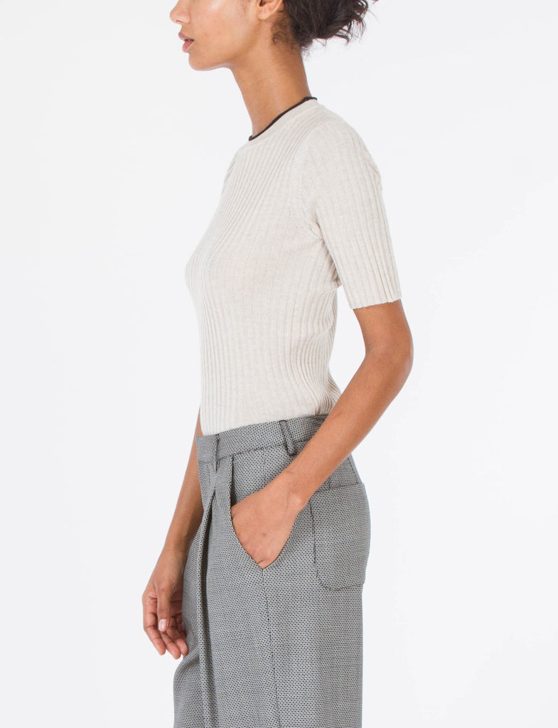 Mock Rib Top Cashwool