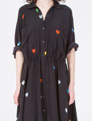 Kelen Dress Short Heart Print