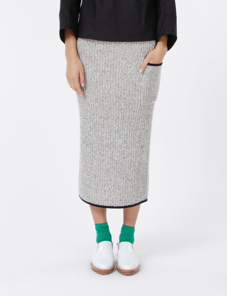 Ribbed Skirt Wool Flick