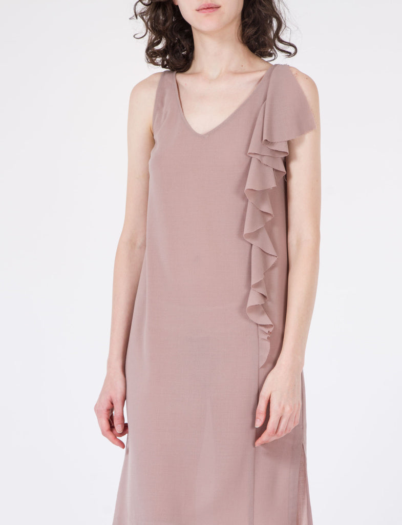 Roe Dress Wool Crepe