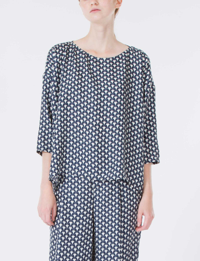Romy Top Herend Print