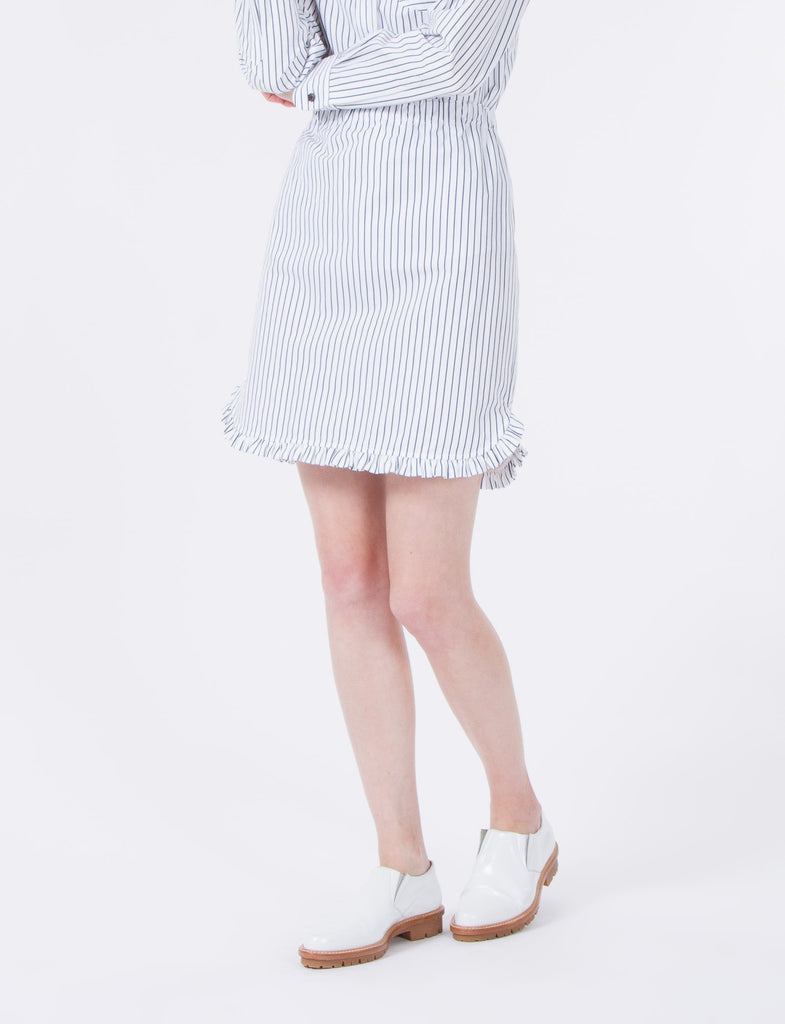 Stig Skirt Striped Shirting
